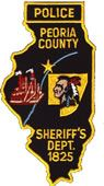 Police Peoria County Sheriff's Department 1825 Patch